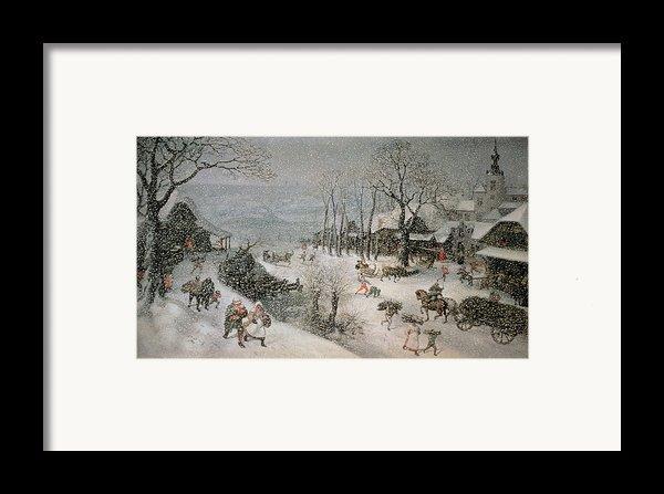 Winter Framed Print By Lucas Van Valckenborch