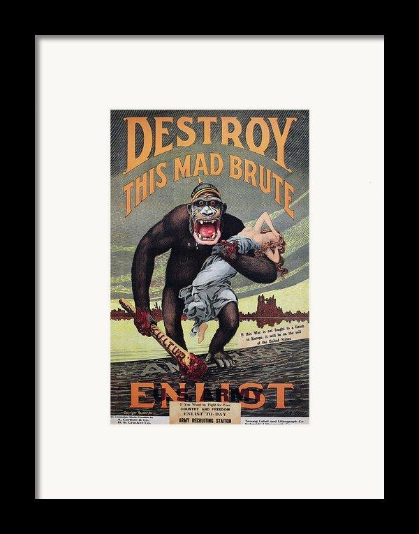 World War I: Recruitment Framed Print By Granger