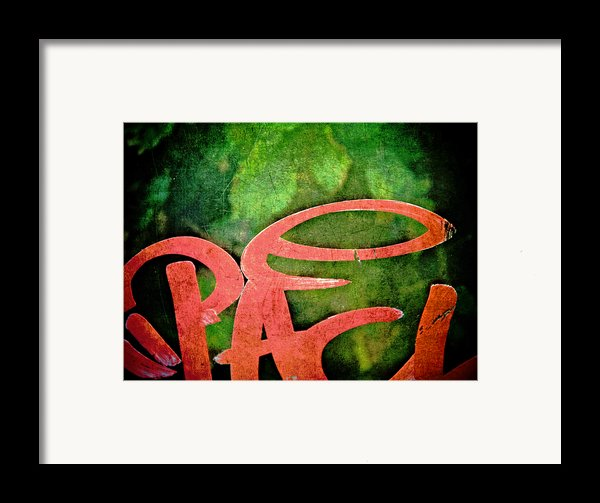 Writ Large Framed Print By Odd Jeppesen
