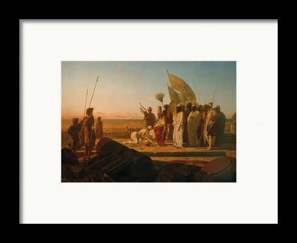 Xerxes At The Hellespont Framed Print By Jean Adrien Guignet